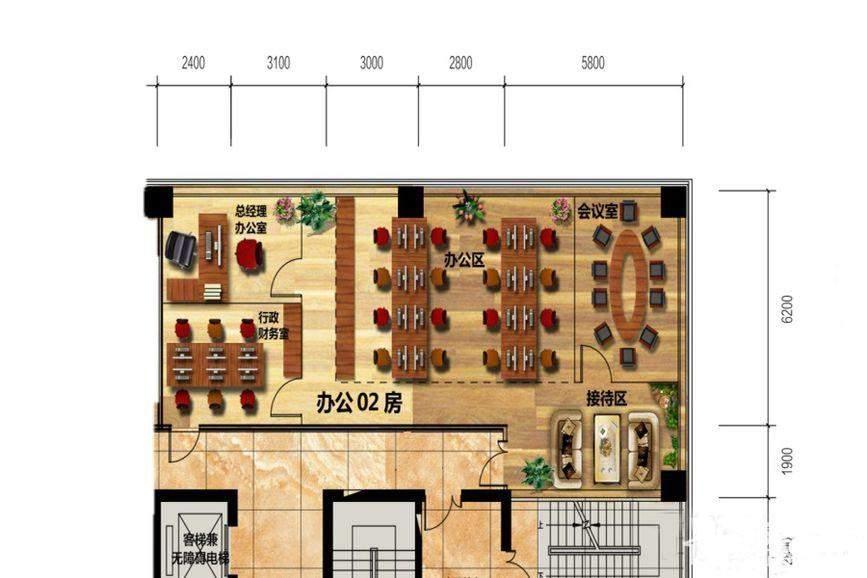 佳兆业时代广场11  3、8、13、18层办公-02房