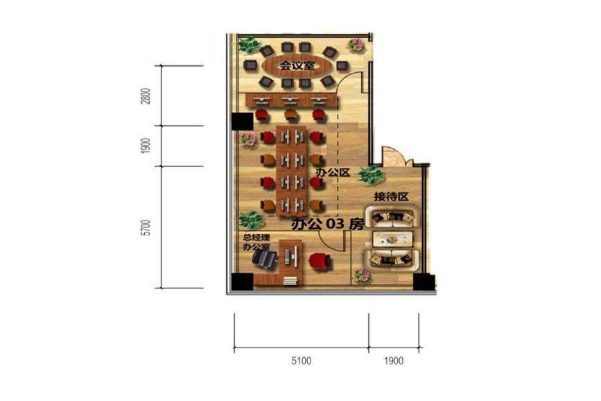 佳兆业时代广场11  3、8、13、18层办公-03房