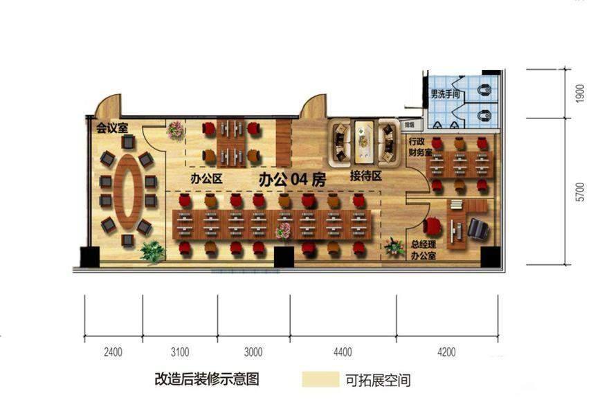 佳兆业时代广场11  3、8、13、18层办公-04房