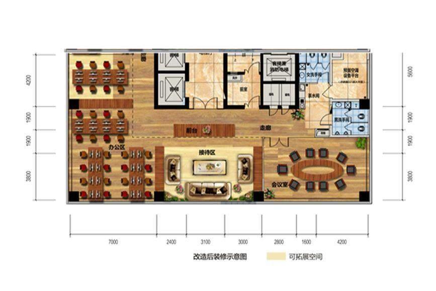 佳兆业时代广场 4-19层办公02房