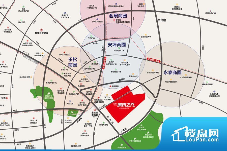 万科·招商城市之光位置图
