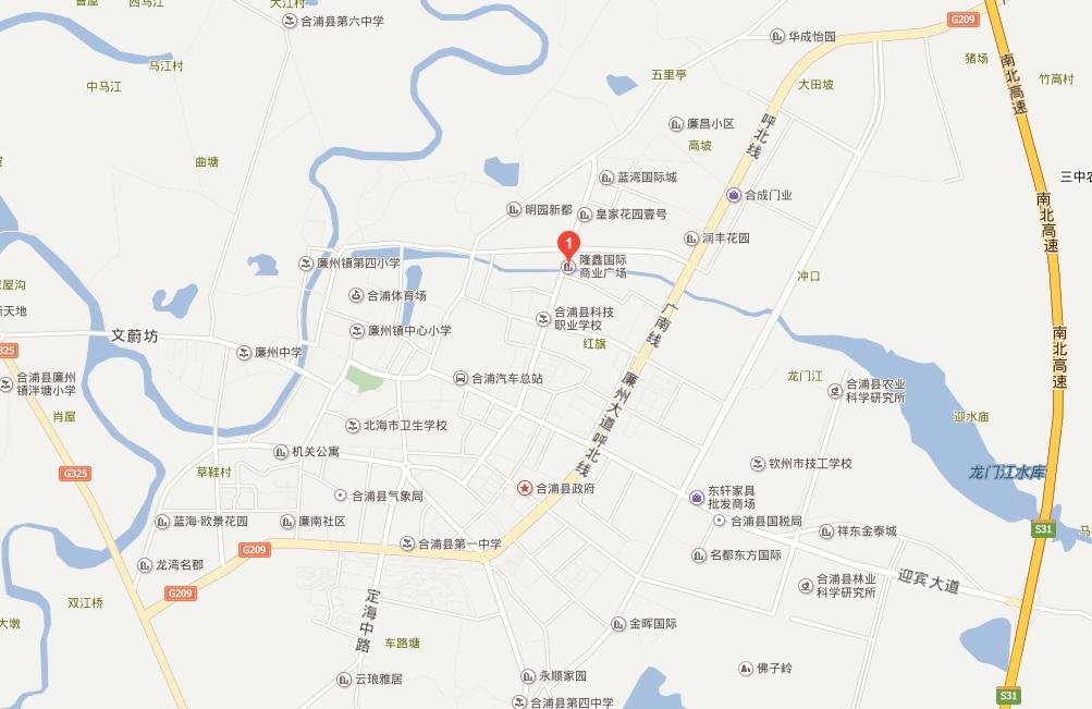 隆鑫国际商业广场位置图