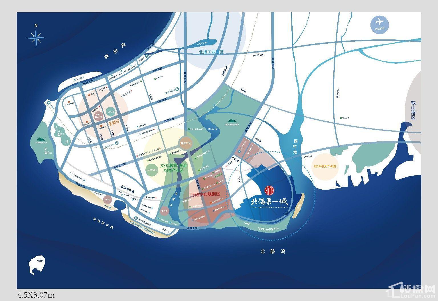中信国安北海第一城3号地块位置图