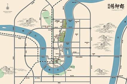绿城·杨柳郡位置图