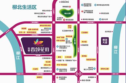 香颂北雀路商业中心位置图