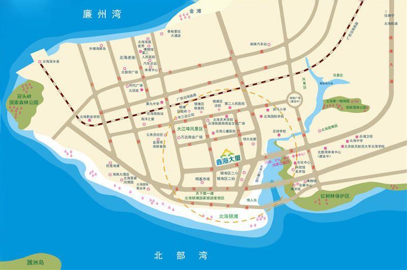 鑫海大厦位置图