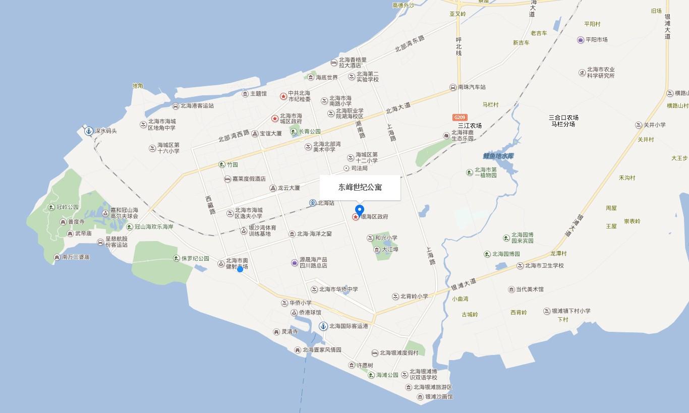 东峰世纪公寓   位置图