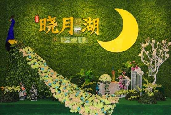 锦绣山河晓月湖实景图