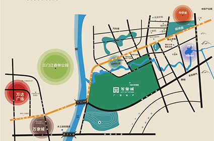 龙象城·铂郡位置图