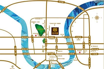 通建中天城位置图