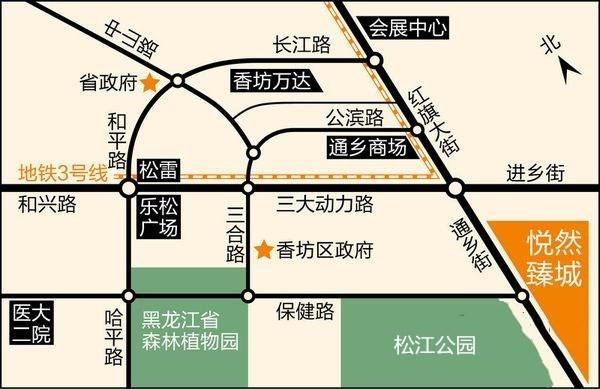 悦然臻城位置图