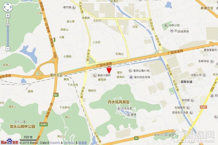 富力悦禧城位置图