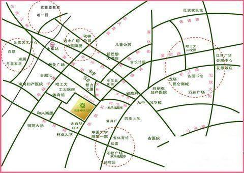宏泽中央公园位置图
