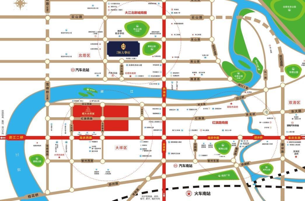 恒大未来城位置图