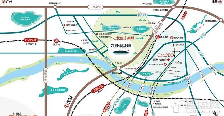 方圆东江月岛位置图