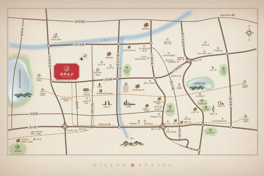 杨柳春风位置图
