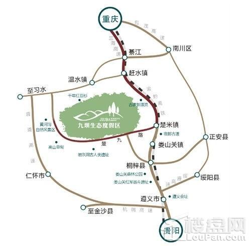 九坝生态旅游小镇位置图