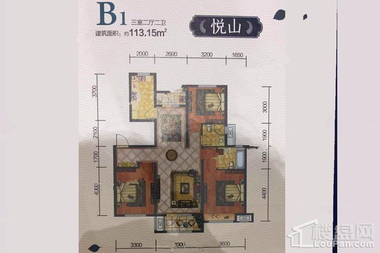 悦山B1户型