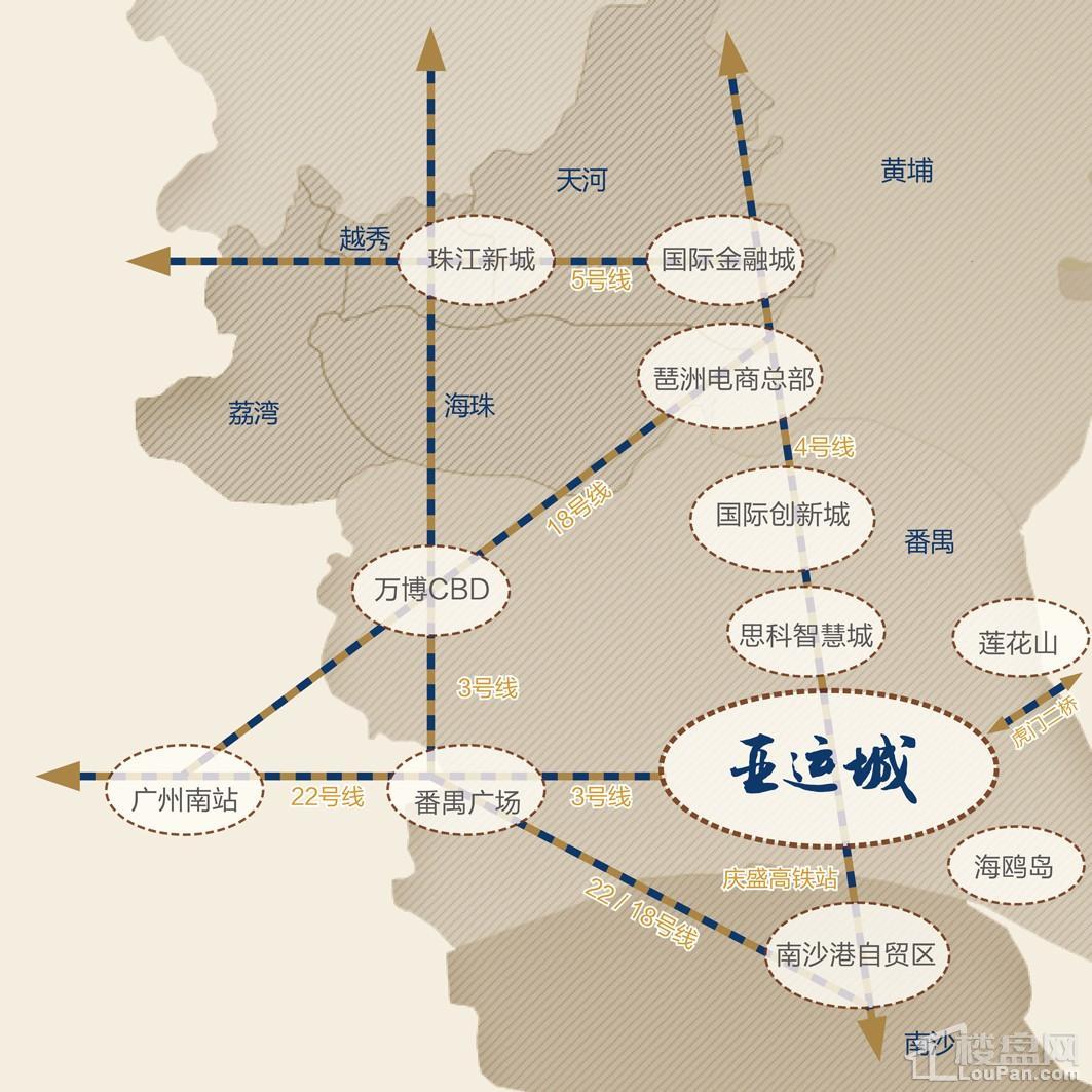 广州亚运城位置图