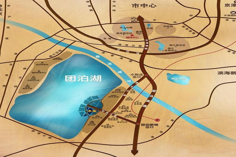 融创伍仟岛位置图