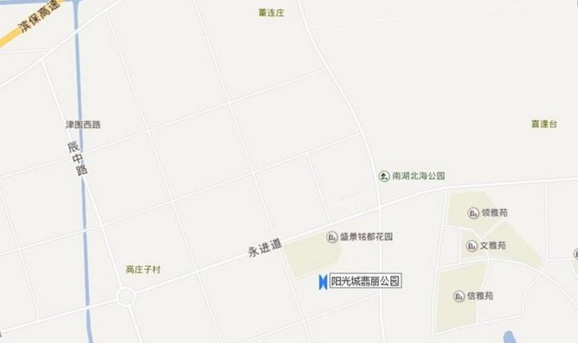 阳光城·翡丽公园位置图
