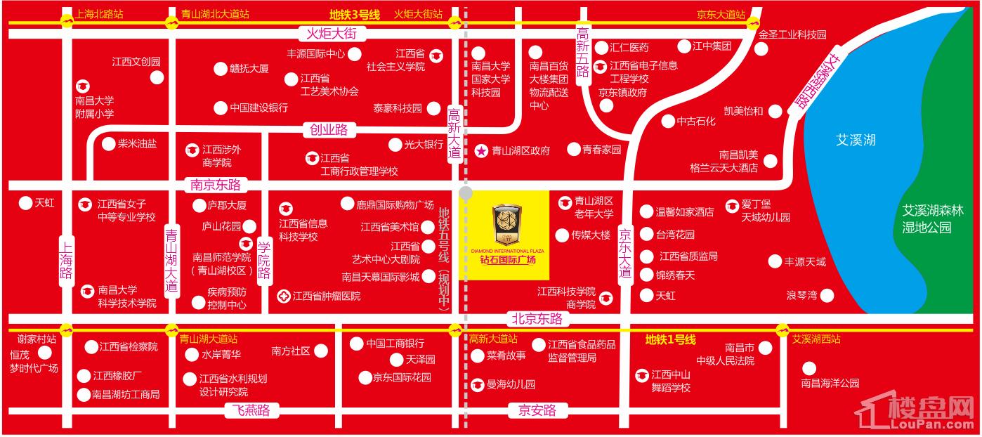 钻石国际广场位置图