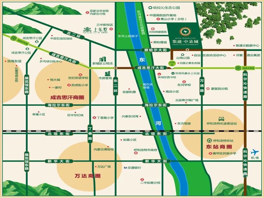 集通中朵城位置图