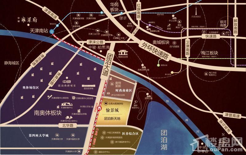 愉景城位置图