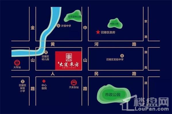 荣昌大道东方位置图