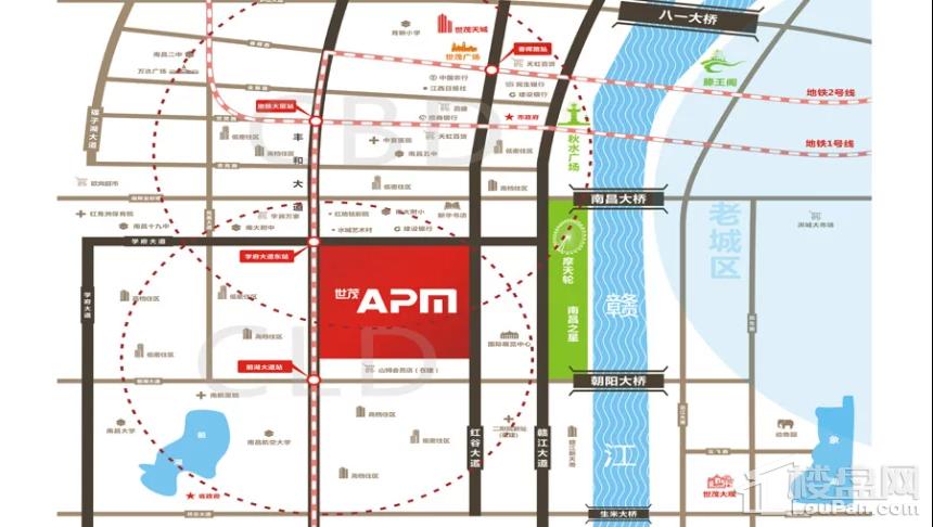 世贸APM位置图