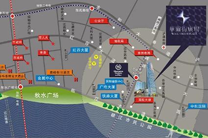 华尔街广场位置图