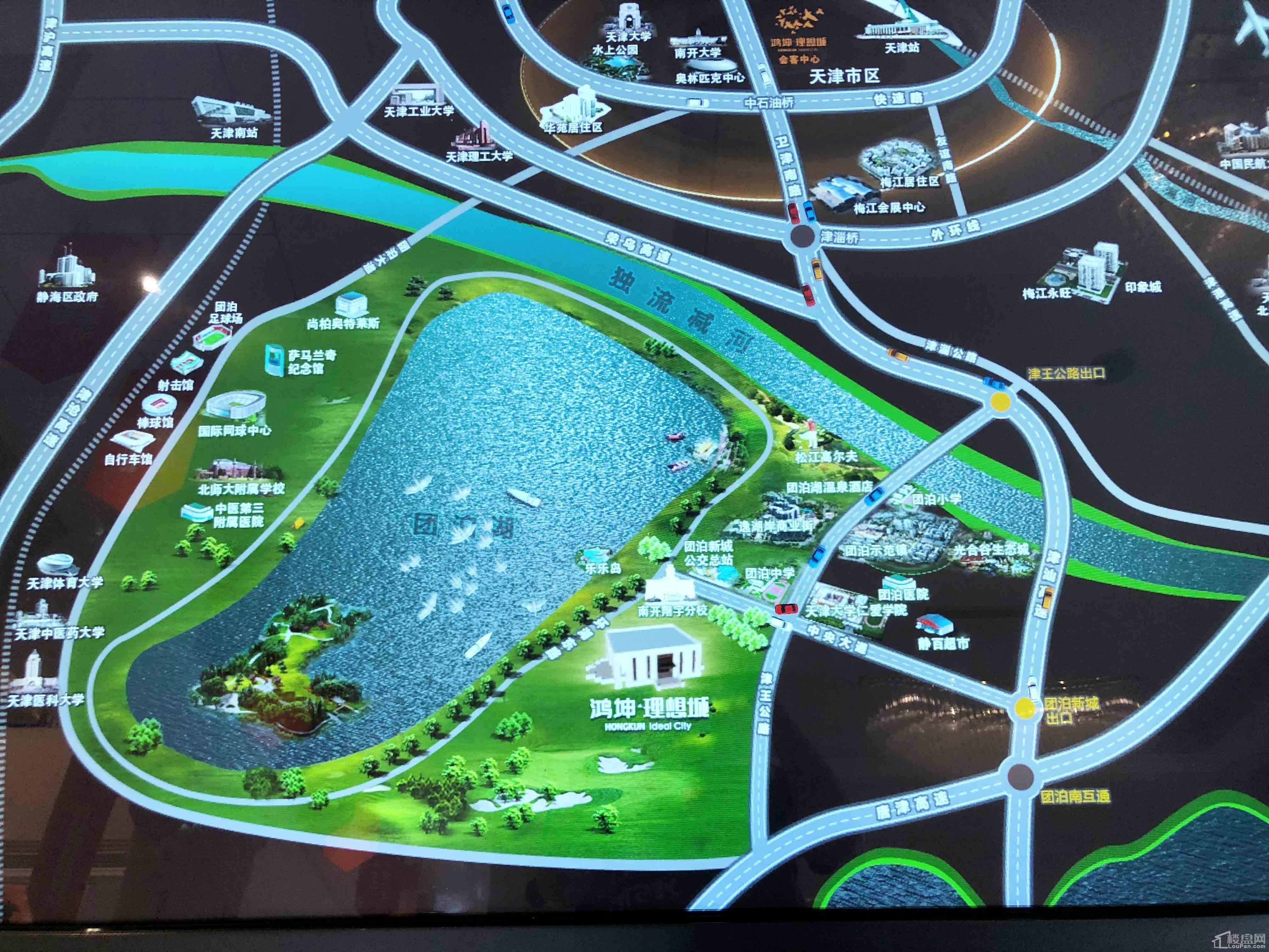鸿坤理想城位置图
