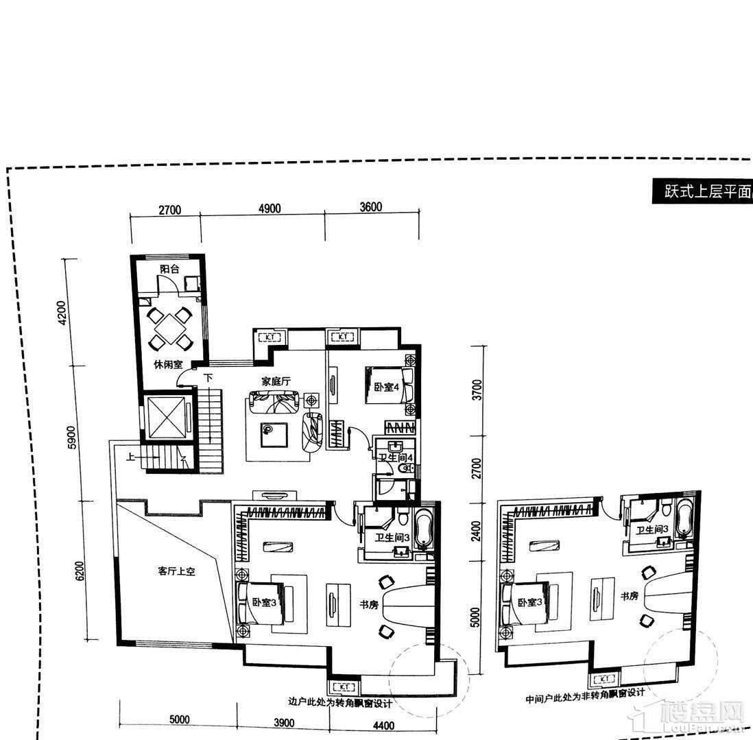 空中别墅平面图