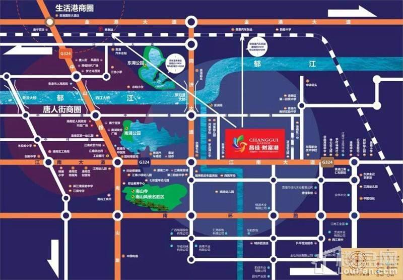 昌桂·财富港位置图