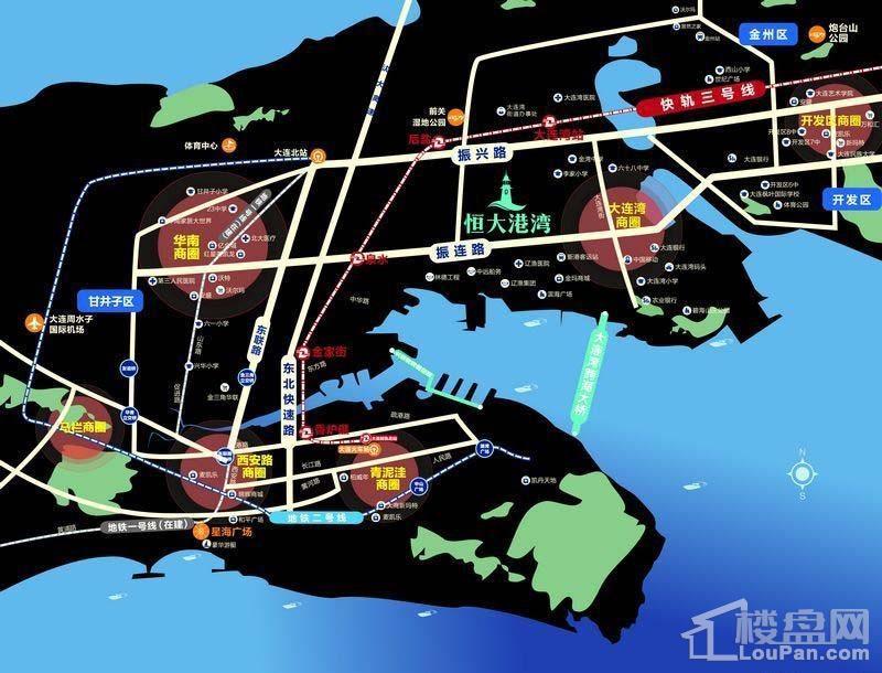 恒大港湾位置图