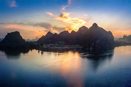 博翠江天实景图
